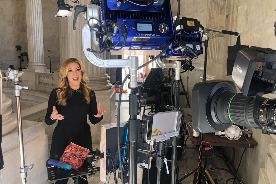 Debra Alfarone reporting at the U.S. Capitol
